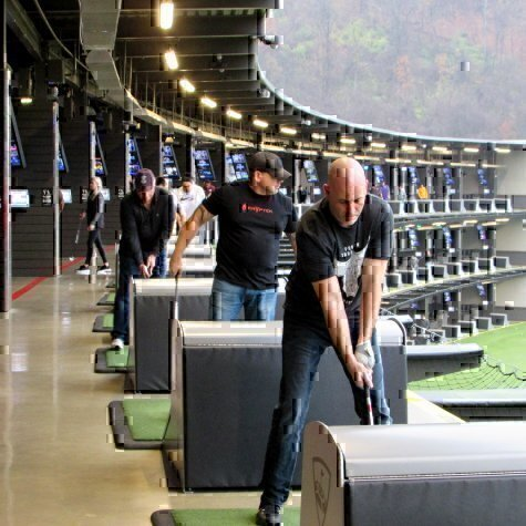 Viqtory employees at Top Golf for a company outing
