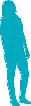 blue silhouette person