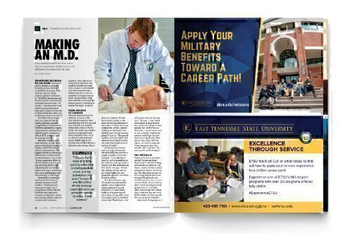 Screen shots of ETSU ads in G.I. Jobs Magazine