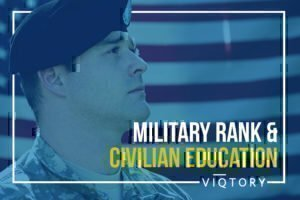 Military Ranks and Civilian Education