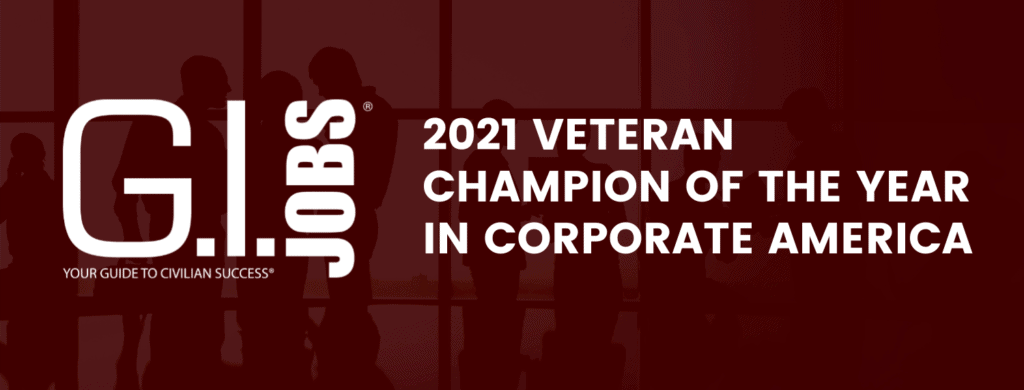 2021 Veteran Champion of the Year in Corporate America