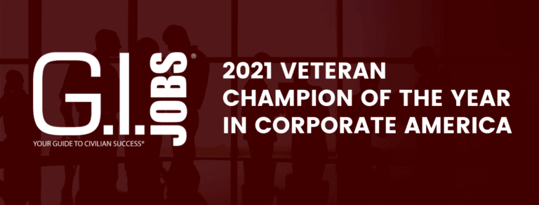2021 Veteran Champion of the Year in Corporate America