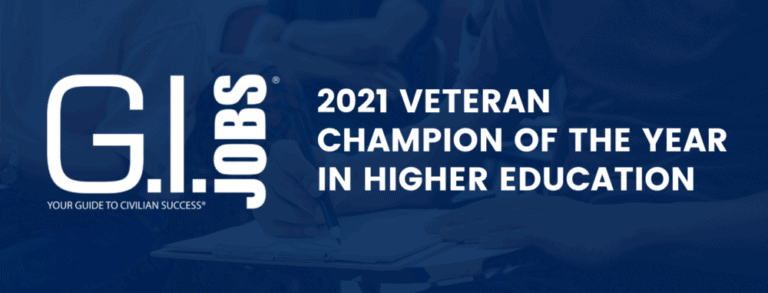 2021 Veteran Champion of the Year in Higher Education